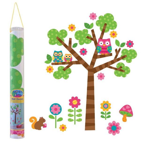 Træ med ugler og blomster fra Stephen Joseph