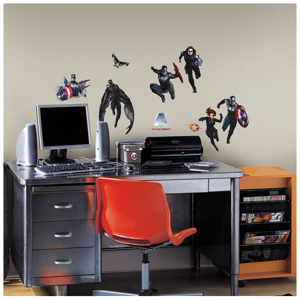 Wallsticker med Captain America