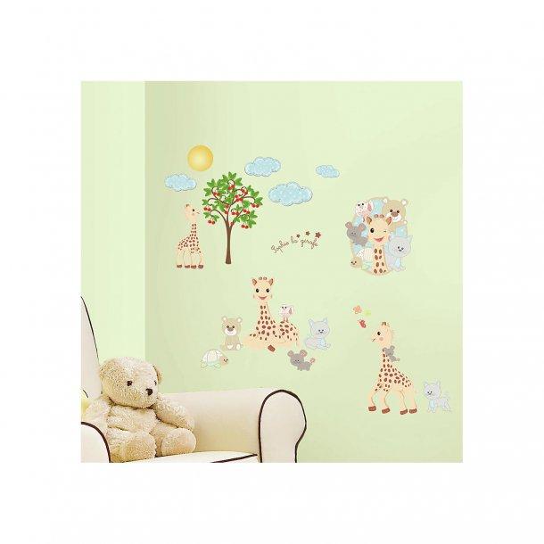 Sophie la Girafe - wallsticker fra Roommates