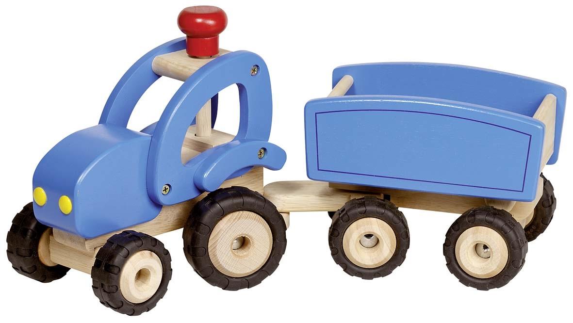 sk n traktor med tipvogn lavet af tr fra goki til drenge. Black Bedroom Furniture Sets. Home Design Ideas