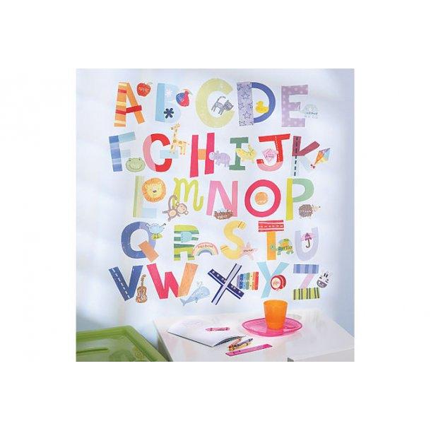 Wallstickers med alfabet
