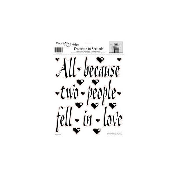 Wallsticker All because two people fell in love